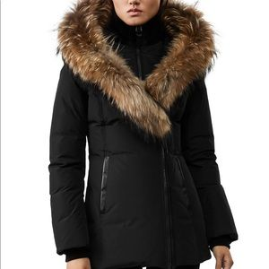 MACKAGE FUR TRIMMED HOODED DOWN COAT
